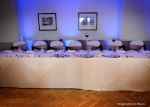 Blue Mood Lighting behind top table
