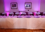 purple Mood Lighting behind top table